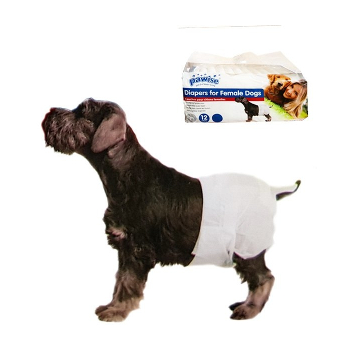 Tuvalet ve Çiş Pedleri - Pawise - Pawise Köpek Alt Bağlama Bezi S Boy 12  Adet